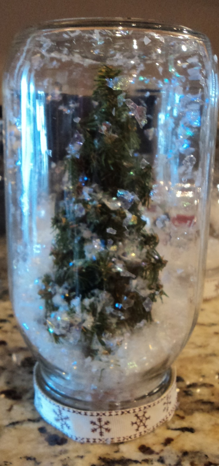 Home Made Tree Snow Globe: Trees Snow, Snow Globes
