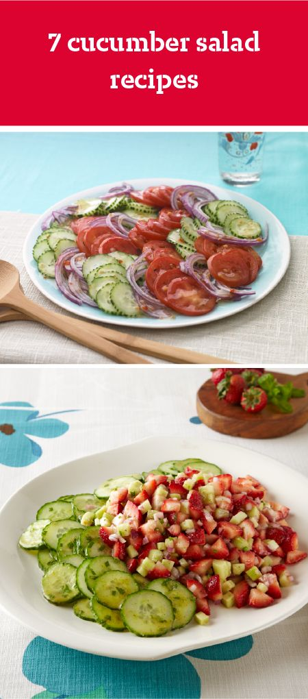 7 Cucumber Salad Recipes – Creamy, crunchy, and refreshing, cucumber salads stand with coleslaws and potato salads as some of summer's best side dishes! Try them out for your 4th of July celebration or outdoor picnic.