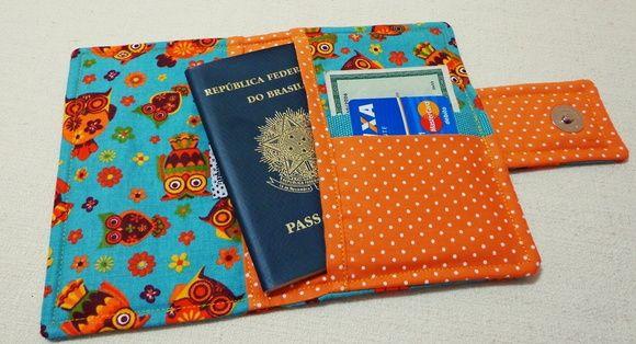 Porta Passaporte Corujinha