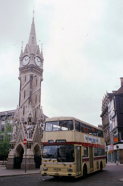 Leicester, England - Clock Tower before pedestrianisation. My mum ran a pub close by. The longstop