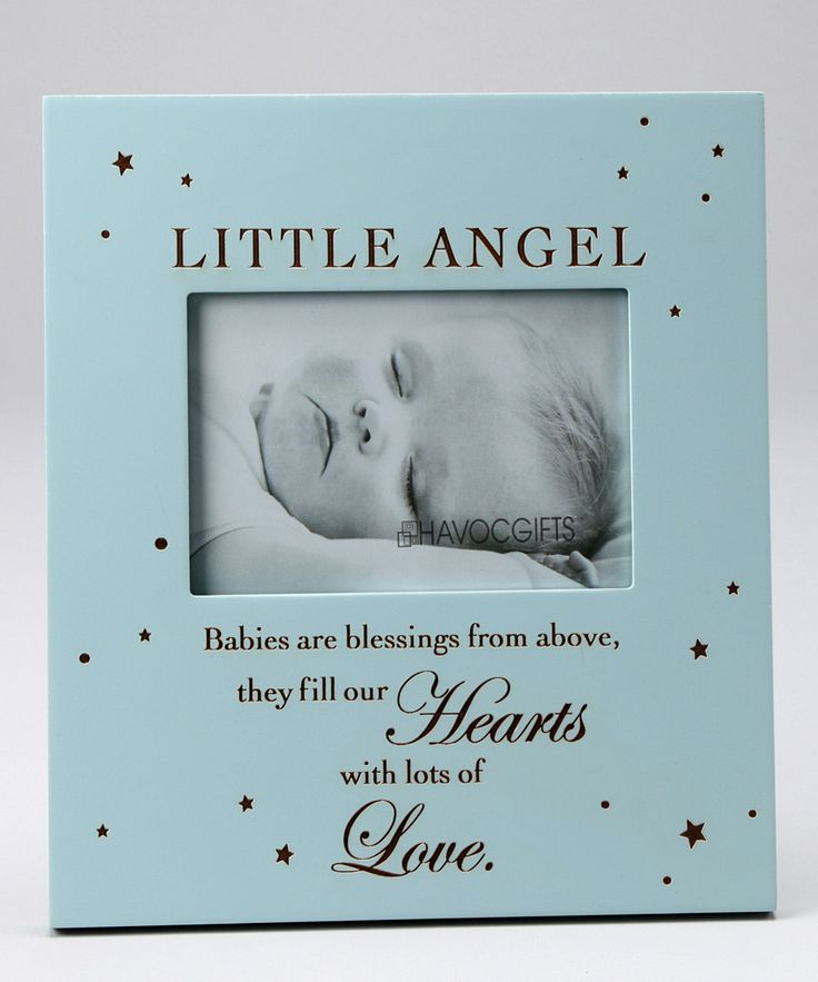 havoc gifts blue little angel engraved frame