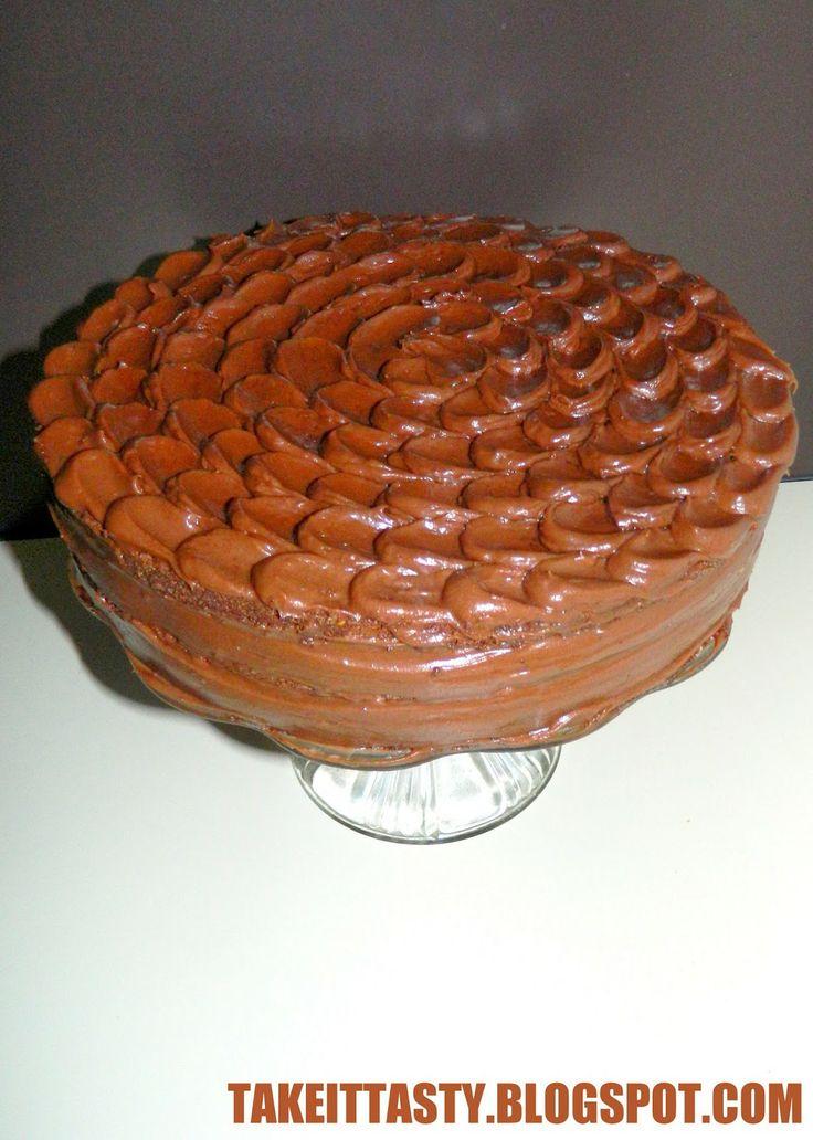 Tort czekoladowy z wiśniami - moój Szwarzwald :)