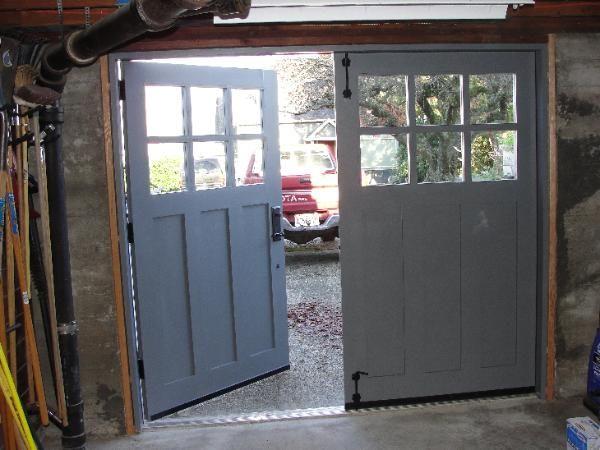 Hand-made custom carriage garage doors and REAL Carriage House Garage Doors by Vintage Garage Door, LLC in Seattle, WA.