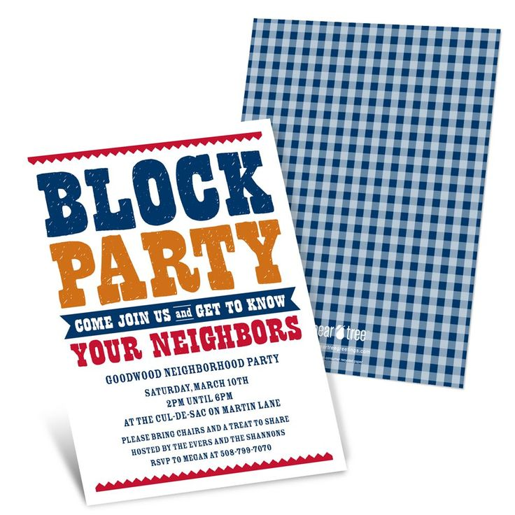 11 best Block party images on Pinterest | Neighborhood party ...