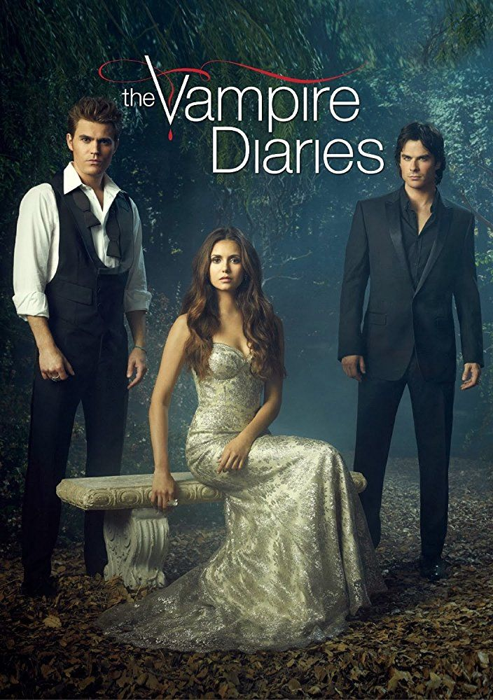 Ian Somerhalder Paul Wesley And Nina Dobrev In The Vampire