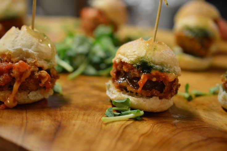 New from elle cuisine catering - Eggplant parmesan sliders! YUM