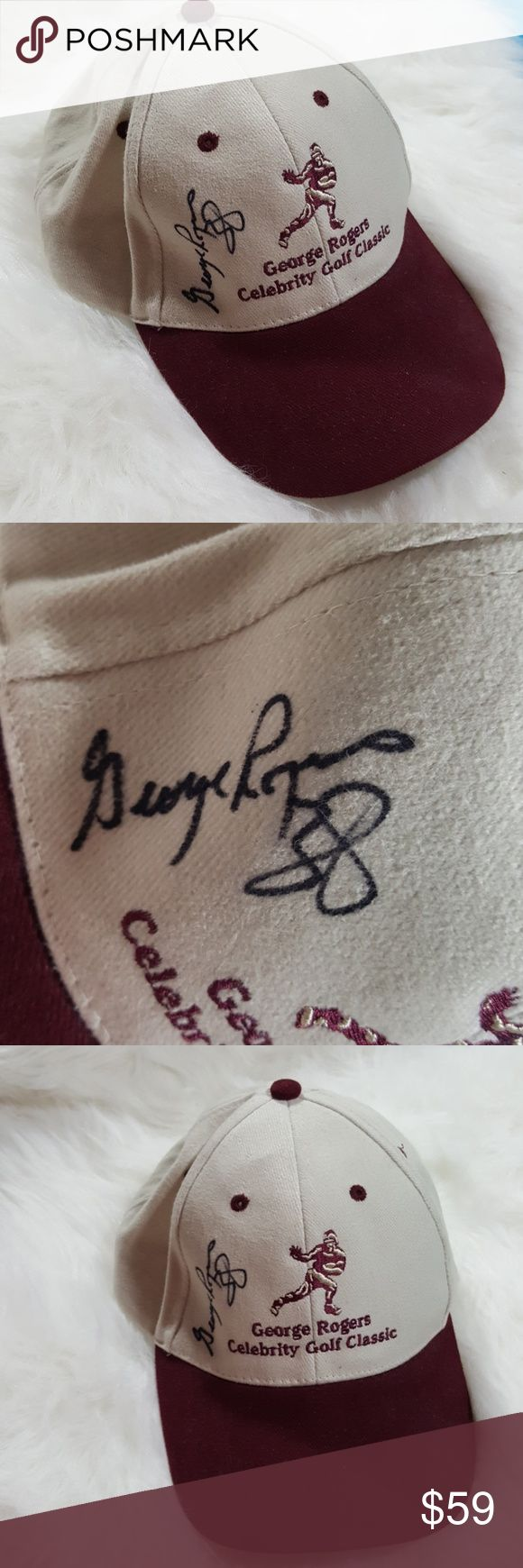 Dad cap autograph by George Rogers That happened good condition autographed by George Rogers famous football player for USC george rogers Accessories Hats