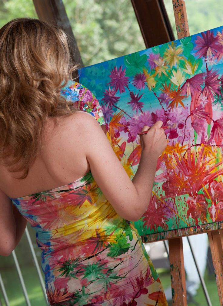 """Allegra di cuore - The paintings and the dress """"Arcobaleno"""""""