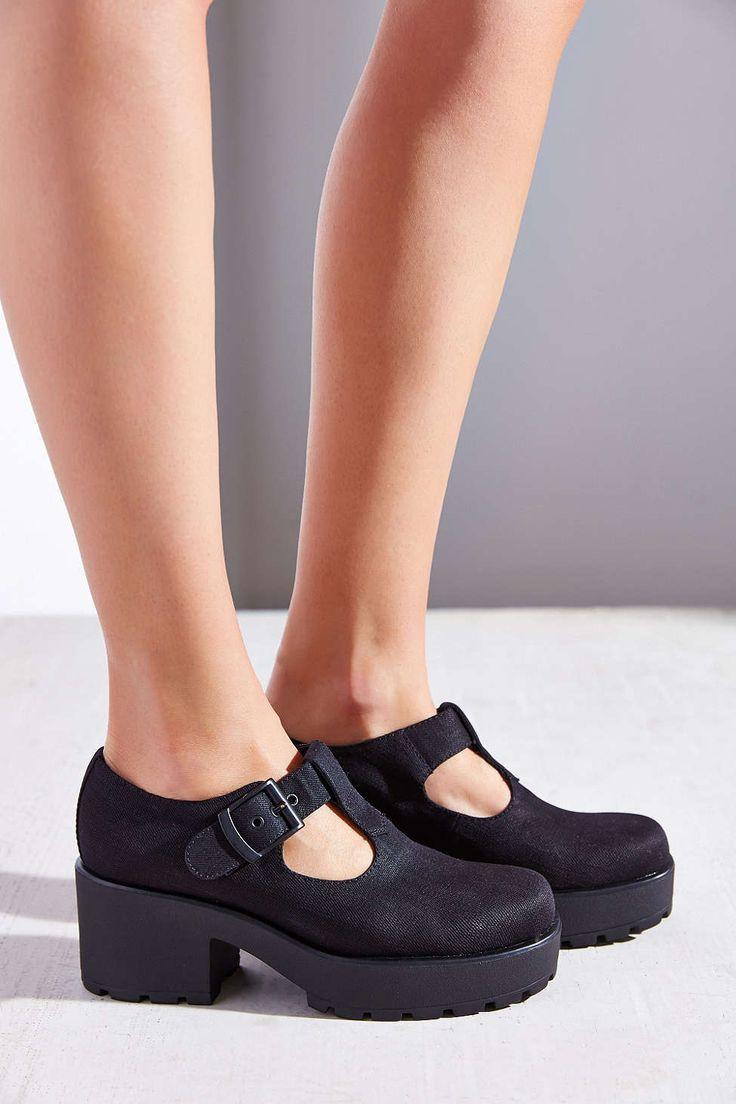 Black vagabond sandals - Vagabond Dioon Canvas T Strap Heel Urban Outfitters