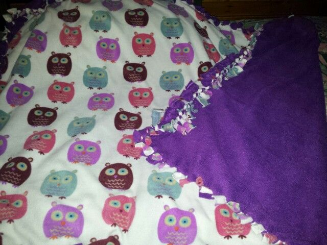 Knot blanket - owls