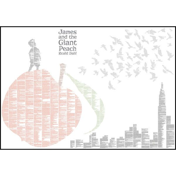 Spineless Classics James and the Giant Peach Colour Print: Image 01
