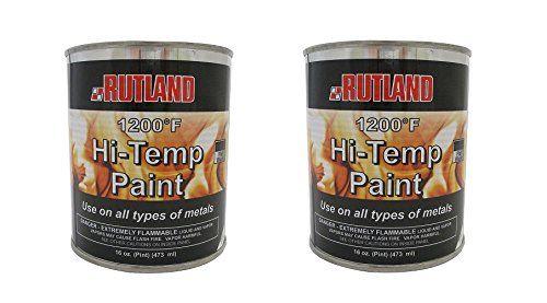 Rutland 1200-Degree F Brush-On Flat Stove Paint, 16 Fluid Ounce, Black (32 OZ)