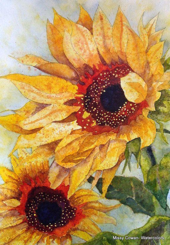 SUNBATHERS Giclee Print of Original Watercolor by missycowan