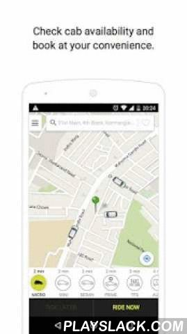 Ola Cabs - Book Taxi In India  Android App - playslack.com ,  Hop into India's most affordable cab ride - Ola Micro at Rs. 6/km in Bangalore, Chennai, Hyderabad, Pune, Kolkata & Delhi NCR and Rs. 7/km in Mumbai. Spend less on travel with Ola when you book the nearest Micro and ride in comfort.Ola cabs app offers City Taxi rides on a point to point basis across several cities in India. We are changing the way you move around in your city with a range of cab options to choose from - Sedan…
