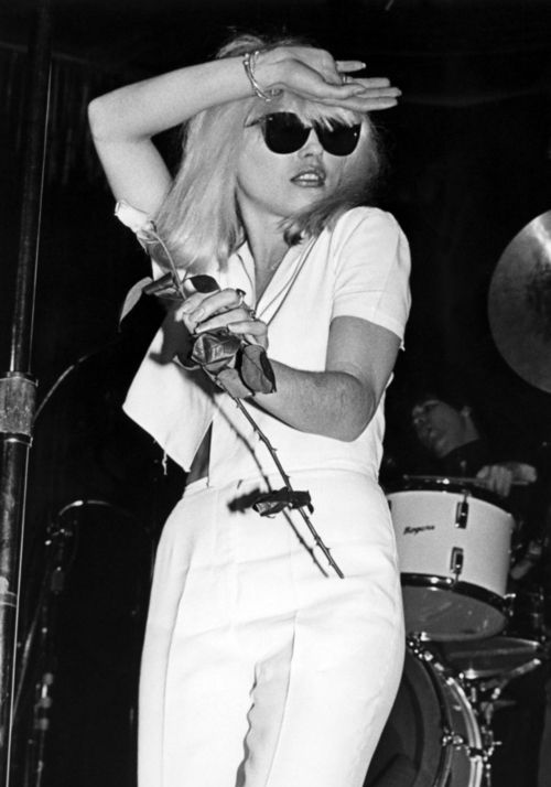 Debbie Harry on stage at the Whisky a Go Go, 1978.