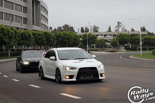 wicked white evo x rolling into cars and coffee irvine rallyways mitsubishi evolution evo pinterest evo cars and coffee and coffee - Mitsubishi Evo X Wicked White