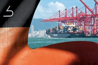 German container line Hapag-Lloyd will fit 24 of its largest vessels with new bulbous bows by 2016. The bulbous bow – the nose of the ship – displaces water in a manner that minimizes or even completely eliminates a bow wave. The lower the water resistance on the hull, the less fuel a ship needs in order to travel at the same speed.