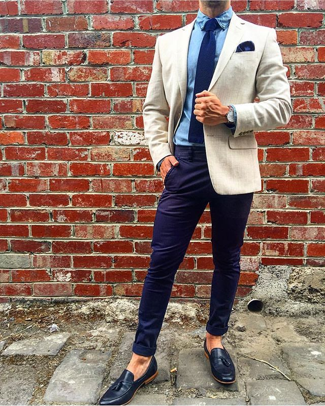 The Cardinal Man ➡️ Navy Blue Knitted Tie OTAA.COM