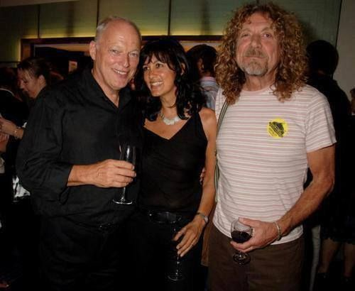 David Gilmour Amp His Wife Polly With Robert Plant