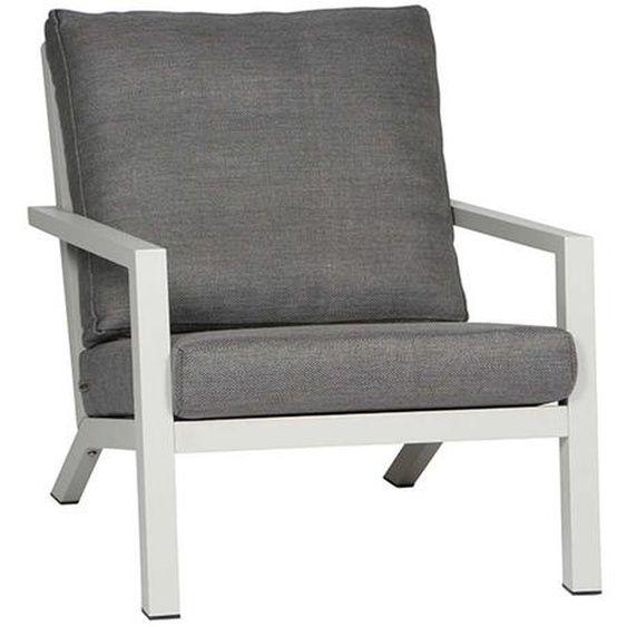 Siena Garden Belia Loungesessel Aluminium Polypropylene Weiss Grau