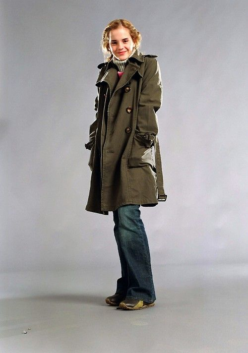 Hermione Granger, fourth year. with the greatest coat ever.