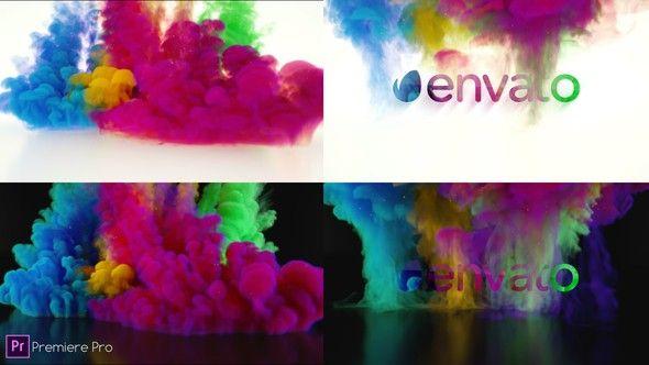 Colorful Smoke Logo - Premiere Pro | Premiere Pro Logo Stings