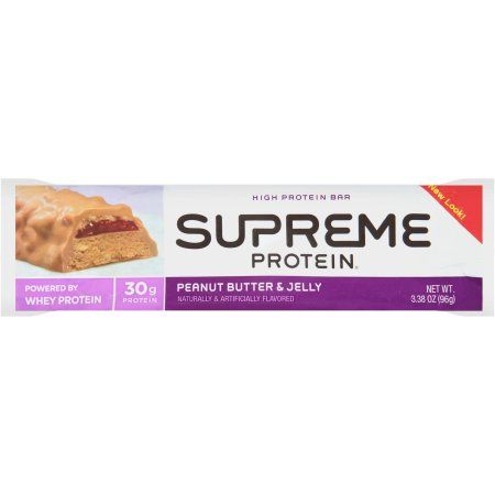 Supreme Protein Peanut Butter & Jelly High Protein Bar, 3.38 oz