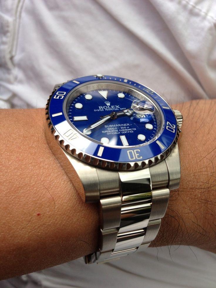 #rolex submariner 116619 white gold smurf. | Timepieces ...