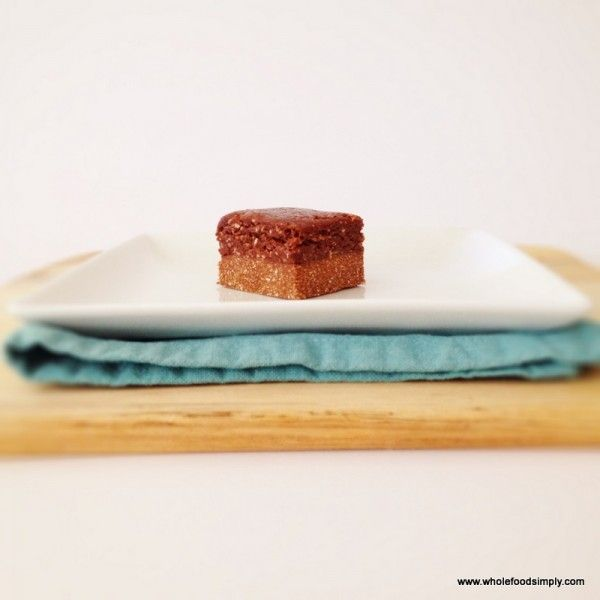 chocolate slice