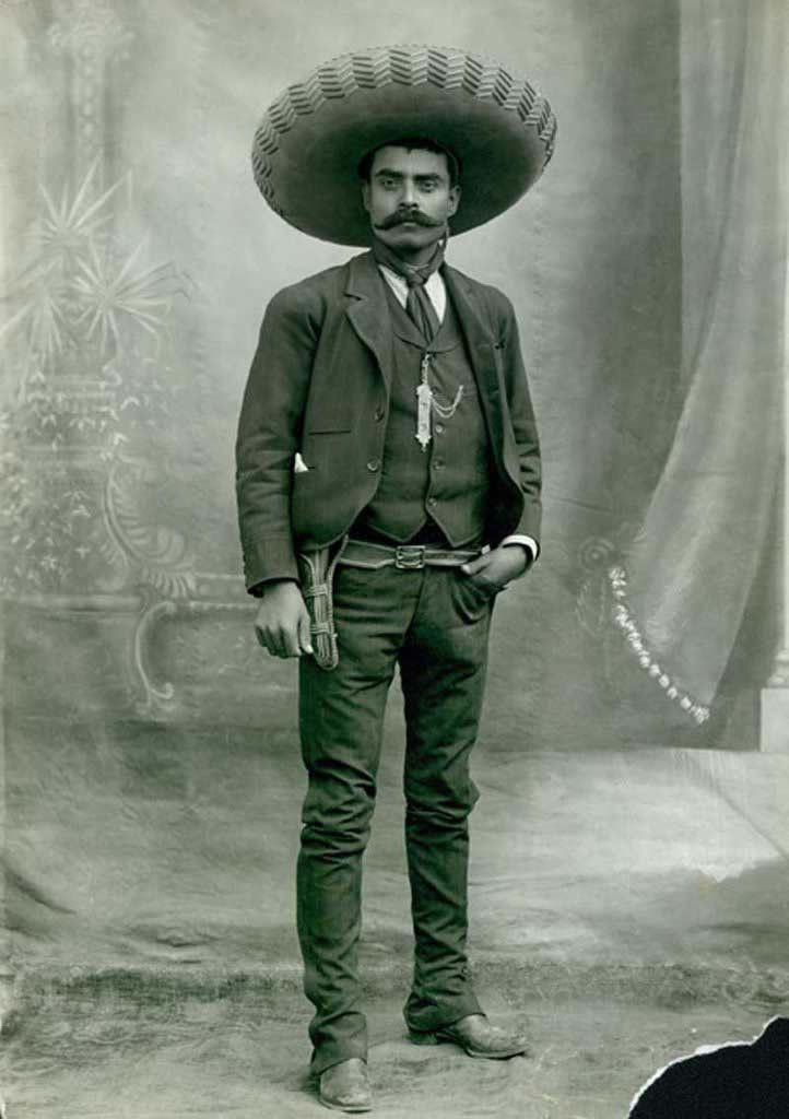Emiliano Zapata (1879 Aug8 o 1919 Apr10, d. @39); general of Liberation Army of the South in Mexican Revolution