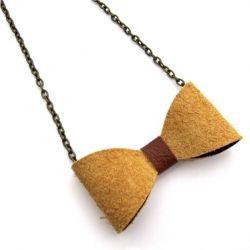 How to Make a Simple Leather Bow Tie Necklace! A piece of Geek-Chic in less than 10 minutes. Go Matt Smith.