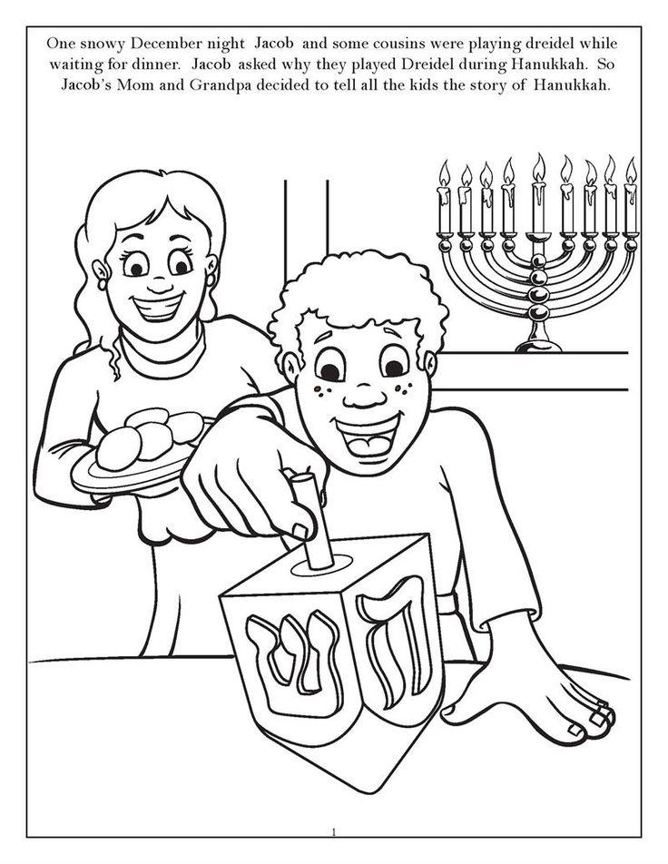 chanukah story coloring pages | 150 best Hanukkah images on Pinterest | Hannukah, Happy ...