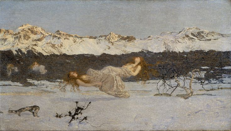 Giovanni Segantini The Punishment of Lust. Painted in Savognin Switzerland