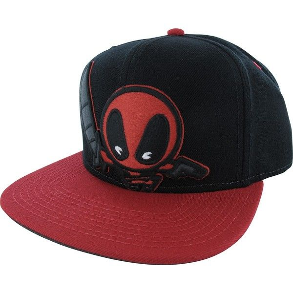 Marvel Comics Deadpool Kawaii Hat ($35) ❤ liked on Polyvore featuring accessories, hats and marvel comics