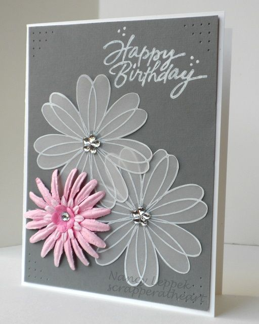 Card Making Ideas Using Vellum Part - 24: DSCN3440. Cute Birthday CardsBirthday GreetingsFemale Birthday CardsDiy  IdeasCraft ...