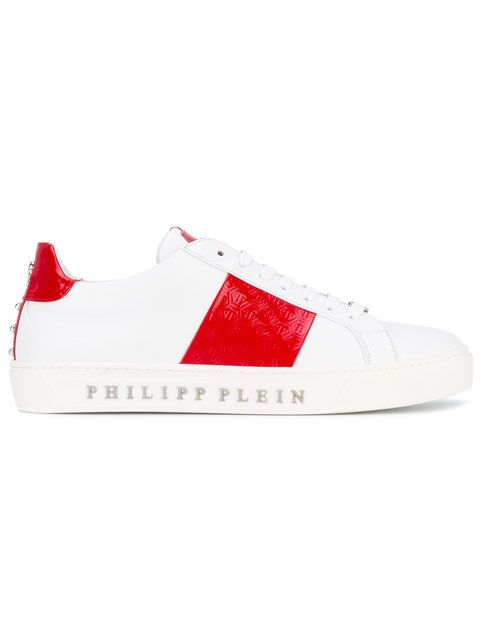 PHILIPP PLEIN Color Block Lace-Up Sneakers. #philippplein #shoes #flats