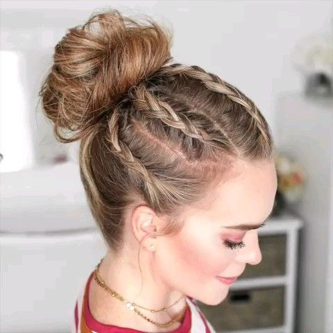 DIY braided bun tutorial – #braided #tutorial – #hairstyleTutorial