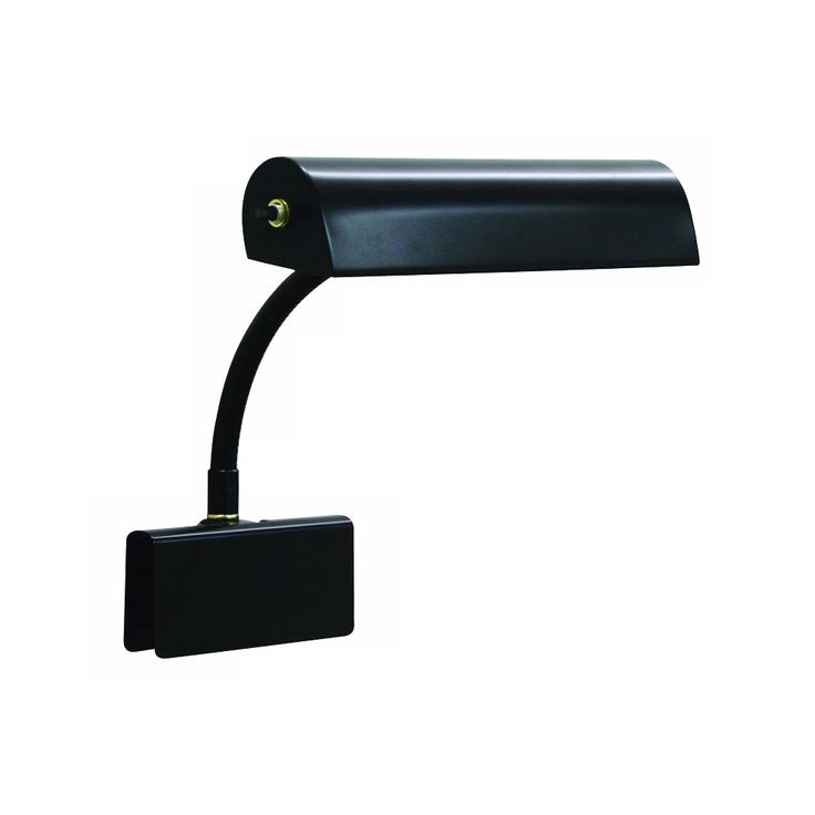 House of Troy Black Felt Lined Clip-On Gooseneck Piano Lamp - Style # 60694