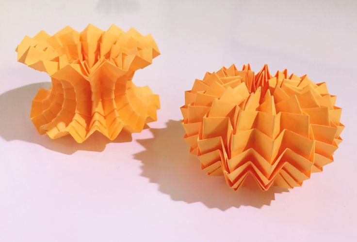 Origami MAGIC BALL - (with zig zag pattern)