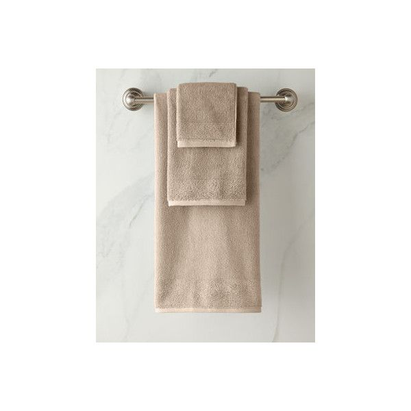 Kassatex Kyoto Face Cloth (285 UYU) ❤ liked on Polyvore featuring home, bed & bath, bath, bath towels, brown, brown bath towels, kassatex bath towels and kassatex