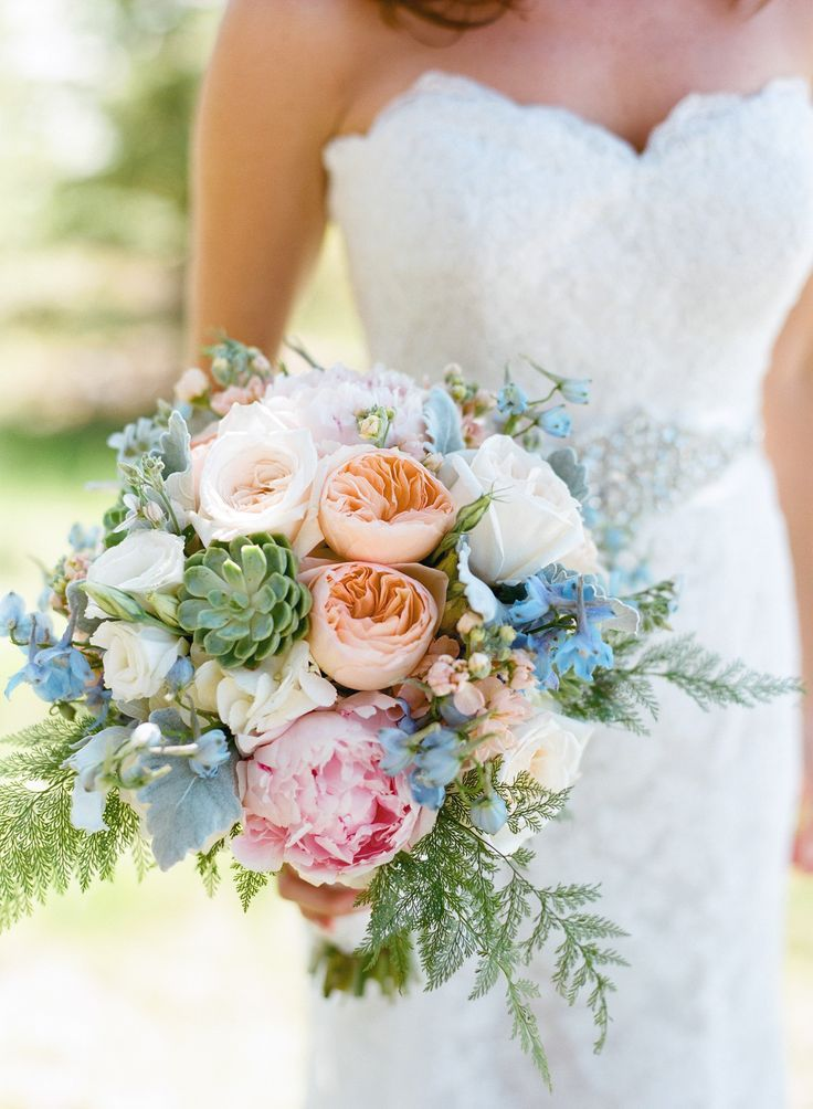 beautiful wedding bouquet beautiful blooms the mix of peonies garden roses 1610