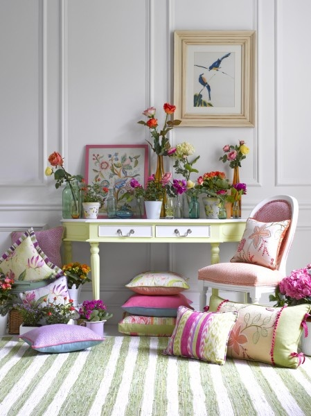 Pemberly and Wakehurst Collection Voyage Maison....pillows are great but so is the rest of this space....