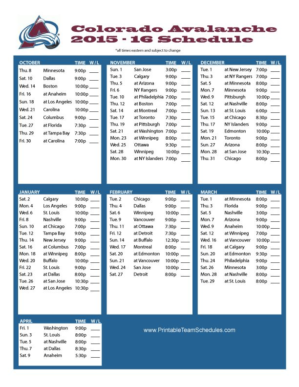 It's just a graphic of Luscious Printable Team Schedules Nhl