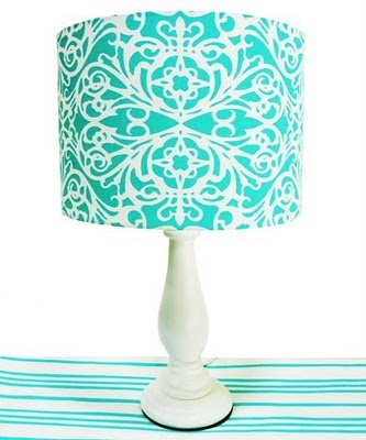 I would make this myself using fabric on the lamp shade to fit any decor