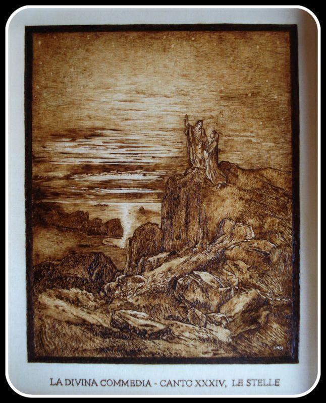 #Illustrazione #Inferno di #Dante di Simone Naldini #artigianato #pirografia #DivinaCommedia http://omaventiquaranta.blogspot.it/2013/11/linferno-dantesco-di-simone-naldini.htm