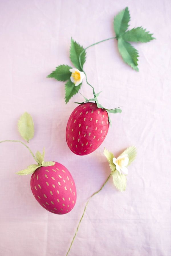Oversize Strawberry Egg Box DIY   Oh Happy Day!