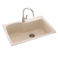 kohler x one hole drop in single bowl kitchen sink kohler x four hole drop in single bowl kitchen sink - Kohler Waschbecken Schneidebrett