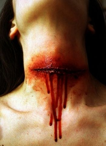 slit throat by RossMakeup