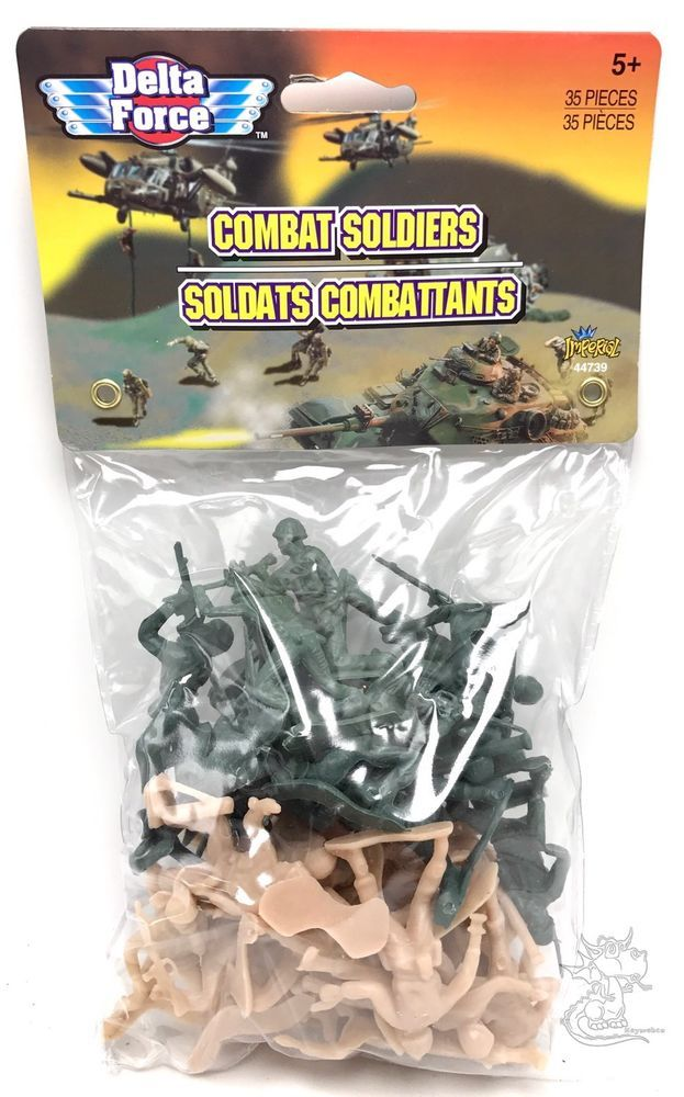 35 pcs Military Plastic Toy Soldiers Army Men Green 1.75in Figures Combat  New  | eBay