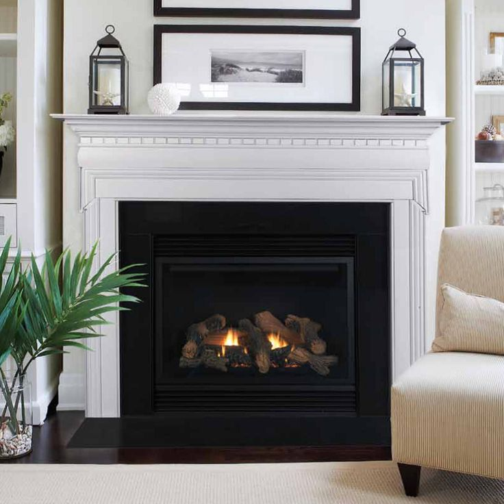 Kaco International Stately White Mount Vernon Fireplace Mantel Hamptons Living Room